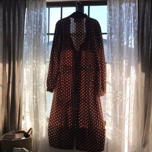 Pretty Little Things Brown Polka Dot dress